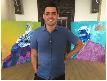 GALARDONADO ARTISTA SIN HOGAR, MANUEL GARCIA, EXHIBE SU PRIMER SOLO SHOW EN LAS AMERICAS